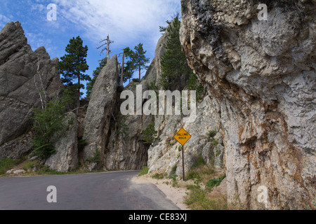 American Black Hills Custer State Park Needles Highway South Dakota in USA - Stock Photo