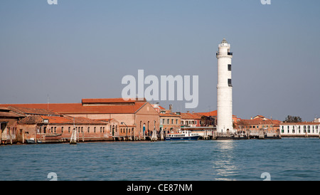 Venice - lighthouse from Murano island - Stock Photo