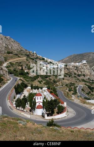 Karpathos: road to Menetes village - Stock Photo