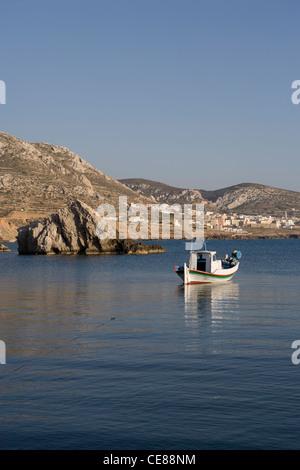Karpathos: Finiki - fishing boat - Stock Photo