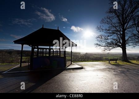 Park Walk, Shaftesbury in Winter, Dorset - Stock Photo