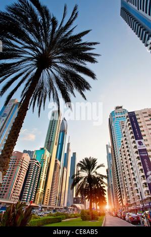Dubai, Sheikh Zayed Road - Stock Photo