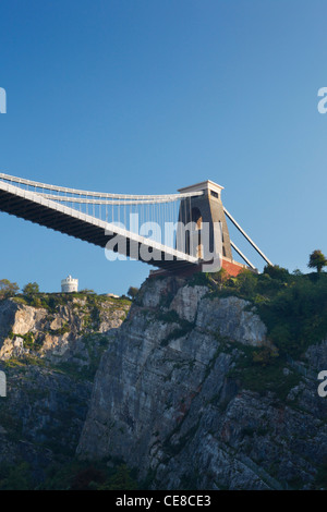Clifton Suspension Bridge spanning the Avon Gorge. Bristol. England. UK. - Stock Photo
