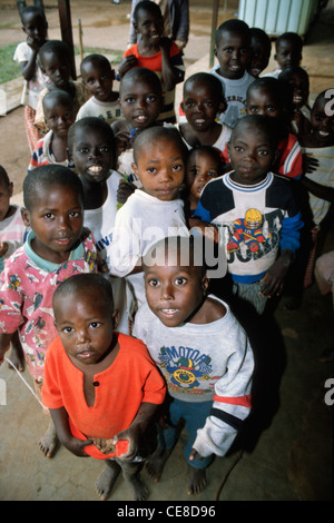 Orphans in an orphanage in Rwanda, Africa - Stock Photo