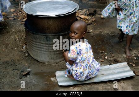 Young girl in an orphanage in Kigali, Rwanda, Africa - Stock Photo