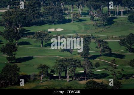 aerial photograph Olympic Golf Club, San Francisco, California - Stock Photo