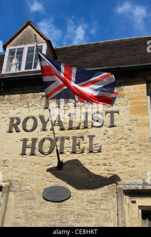 The Royalist Hotel in Stow-on-the-Wold in the Cotswolds. - Stock Photo