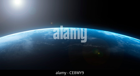 Earth from space, computer artwork. - Stock Photo
