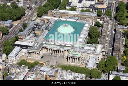 Aerial image of British Museum in London - Stock Photo