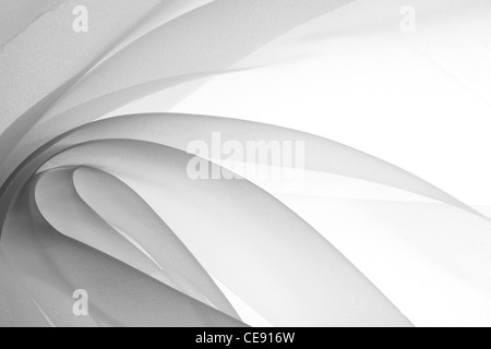 soft black chiffon with curve and wave - Stock Photo