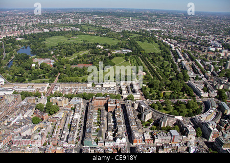 Aerial image of Regents Park, London NW1 - Stock Photo
