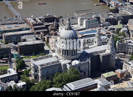 Aerial image of St Paul's Cathedral, London - Stock Photo