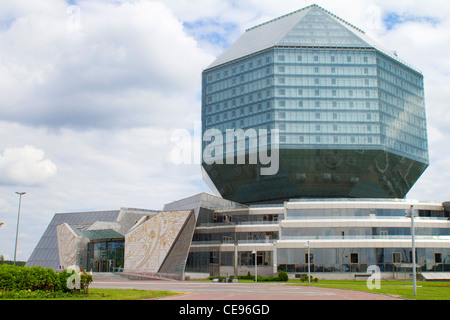 National Library building in Minsk, Belarus - Stock Photo