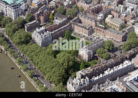 Aerial image of The Inner Temple Garden, Victoria Embankment, London EC4 - Stock Photo