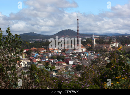 View over the city of Dalat - Stock Photo