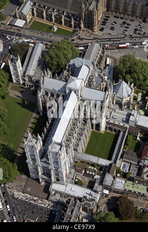Aerial photograph of Westminster Abbey, London - Stock Photo