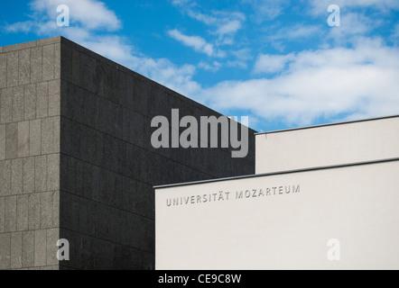 Modern Building of Universität Mozarteum (Mozart University of Music and Dramatic Arts) in Mirabell Gardens, Salzburg, - Stock Photo