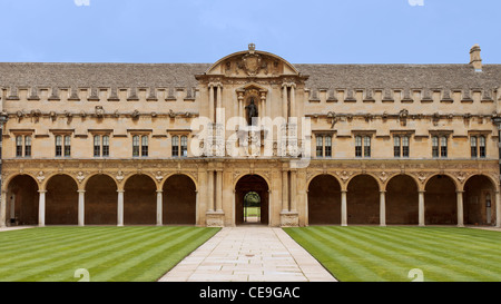 UK Oxford St. John's College Part Of Rear Quadrangle - Stock Photo