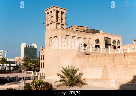 Al Bastakiya district, Dubai, United Arab Emirates - Stock Photo