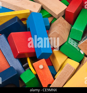 Pile of wooden toys - Stock Photo