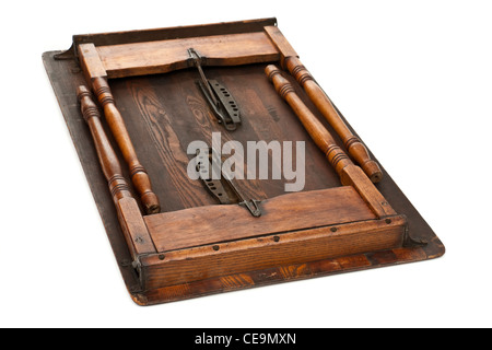 Antique Victorian wooden folding table - Stock Photo