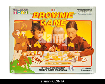 Vintage 'The Brownie Game' board game by Goodtime Toys (1986), officially endorsed by the Girl Guides Association. - Stock Photo