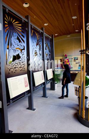 Visitor Center, Pu'ukohola Heiau National Historic Site, Big Island, Hawaii - Stock Photo