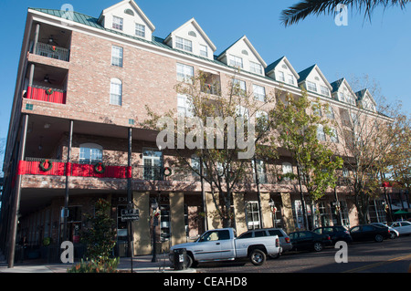 Shops at 201 SE 1st Street, downtown Gainesville, Florida, United States - Stock Photo