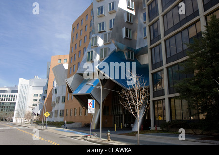Modern building of the MIT in Cambridge - Stock Photo