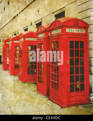 old phone box photo - Stock Photo