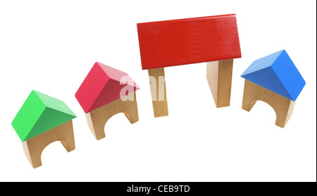 Wooden Toy Houses - Stock Photo