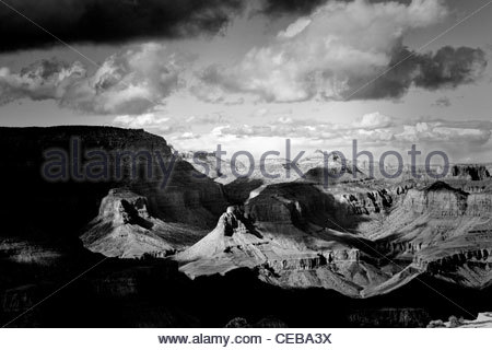 The overlook from Lipan Point, Grand Canyon south rim, Arizona. - Stock Photo