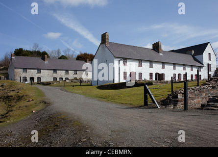 Blaenavon Ironworks, cottages, Stack Square, 'Coal House' TV Series, - Stock Photo