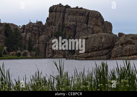 American Black Hills Custer State Park Sylvan Lake Landscape South Dakota in USA - Stock Photo