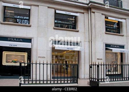 Prada high fashion mode  Paris Avenue Montaigne - Stock Photo