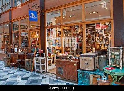 Antique Gallery - Galerie Vivienne Paris France French - Stock Photo