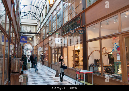 Gallery - Galerie Vivienne Paris France French - Stock Photo