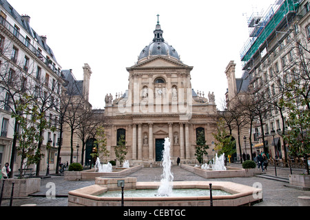 Place de la Sorbonne university of Paris  France - Stock Photo