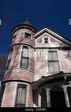 Victorian home in Charlotte, North Carolina's historic Fourth Ward - Stock Photo