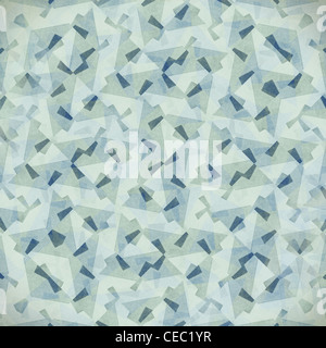 Grungy and grainy bleached abstract background in light pastel colors, made of intersecting geometric figures and - Stock Photo