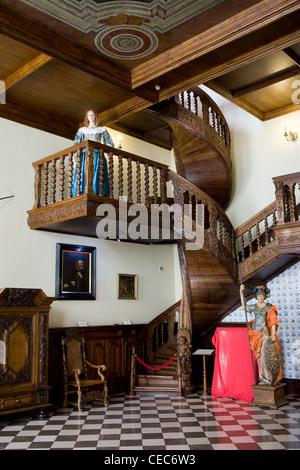 Interior of the Artus Court (Polish: Dwor Artusa) in Gdansk, Poland - Stock Photo