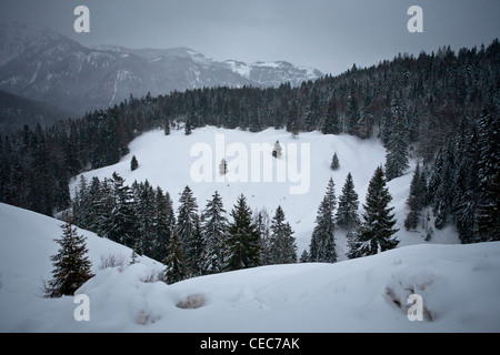 Mountain landscape in Bavaria, Munich, Europe - Stock Photo