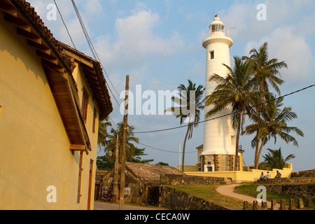 Lighthouse of old town Galle Sri Lanka Asia - Stock Photo
