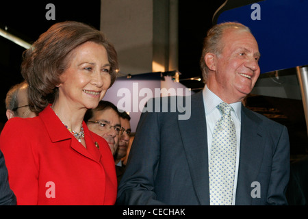 King Juan Carlos I and Queen Sofia of Spain - Stock Photo