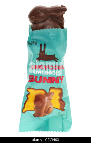 Packeted chocolate honeycomb crunch easter bunny - Stock Photo