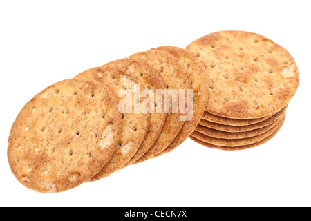 Pile of Wheaten crackers - Stock Photo