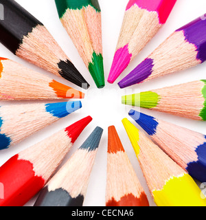 Group of coloured pencils - Stock Photo