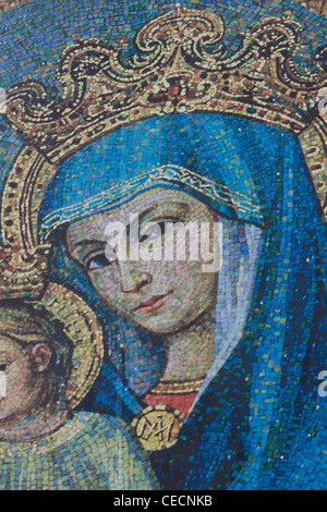 Mary outside St. Peter's Basilica Basilica di San Pietro Vatican city Rome - Stock Photo