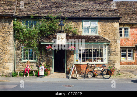 The old Bakery shop in Lacock village Wiltshire England UK EU - Stock Photo