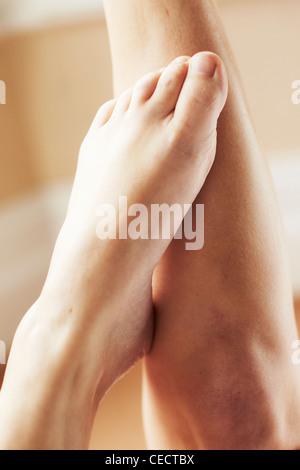 Womans feet - Stock Photo